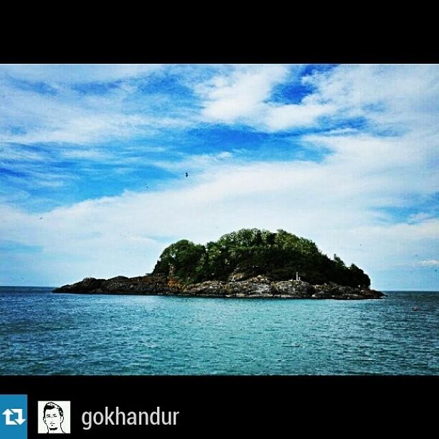 @gokhandur —#Giresun #Adası #ada #island #Aretias #Kerasus #botanik #park #doga #manzara #deniz #bulut #Karadeniz #Blacksea #sky #Sahil #coast #mavi #blue #yesil #green #deniz #sea #love #giresunblog #gokhandur
